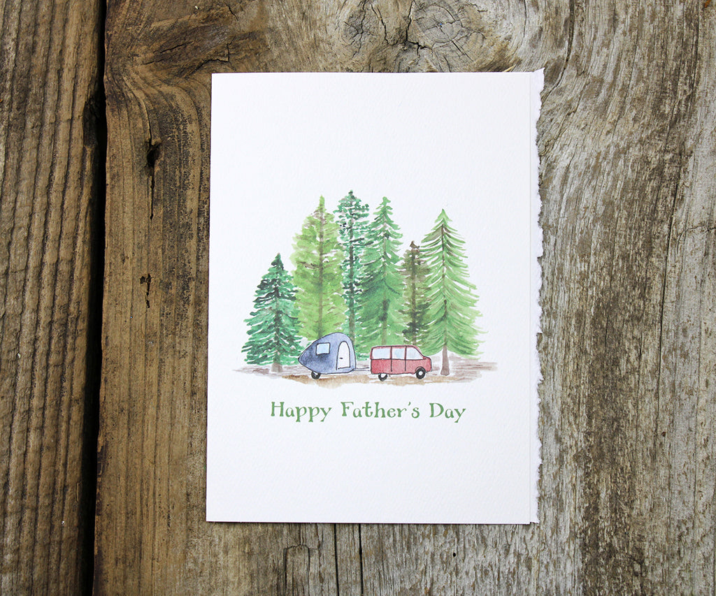Camping Dad Father's Day Card
