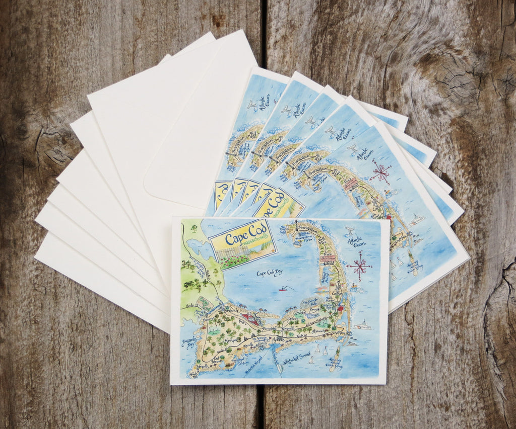 Cape Cod Map note card