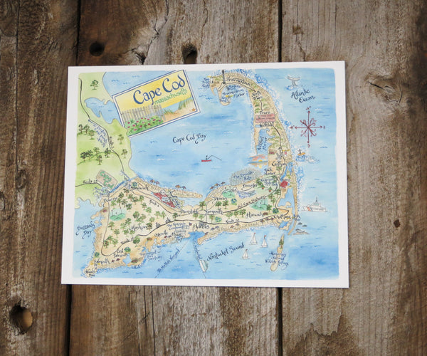 Cape Cod, Massachusetts Map