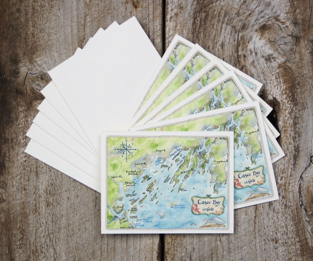 Casco Bay, Maine note cards