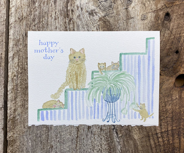 Cat lover mother's day card