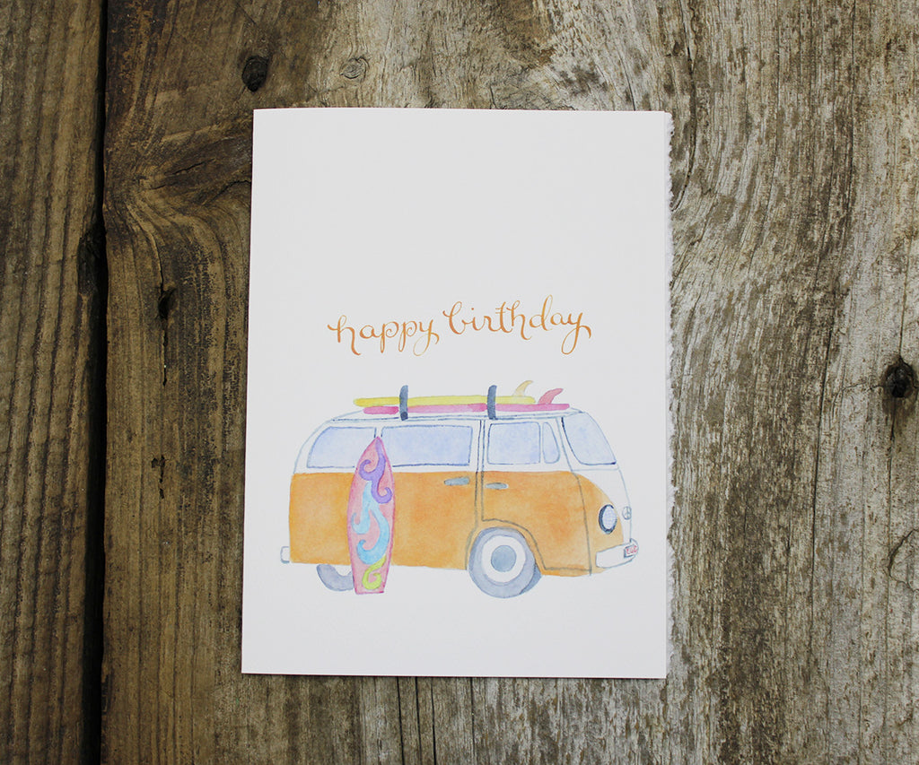 surf van birthday card