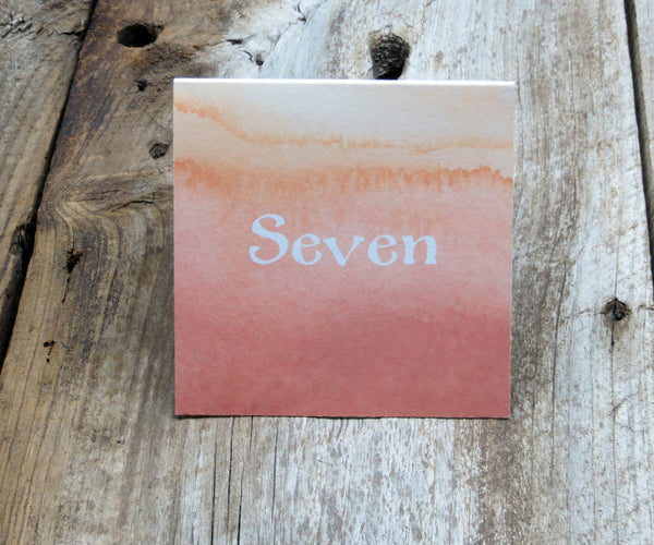 Coral Ombre Table Signs