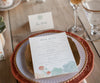 succulent wedding menu