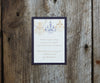 Chandelier Wedding Invitation