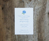 Blue Hydrangea Wedding Invitation