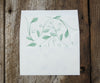 Greenery Envelope Liner
