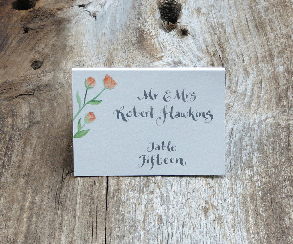 Orange Spray Roses Escort/Place Card