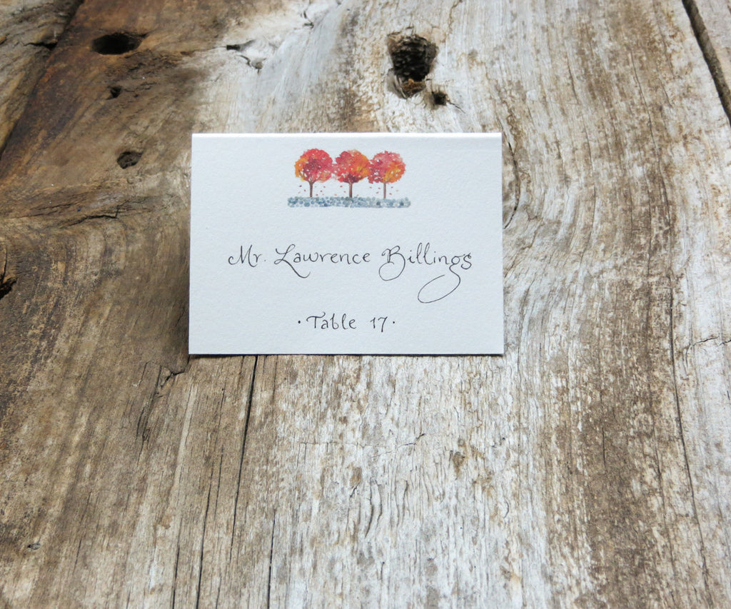 3 Foliage Trees Escort/Place Card
