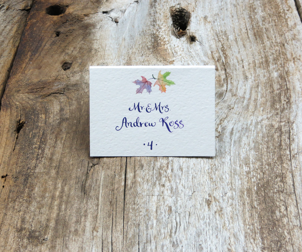 October Leaves Escort/Place Card