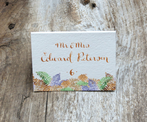Autumn Trees with Ferns Escort/Place Card