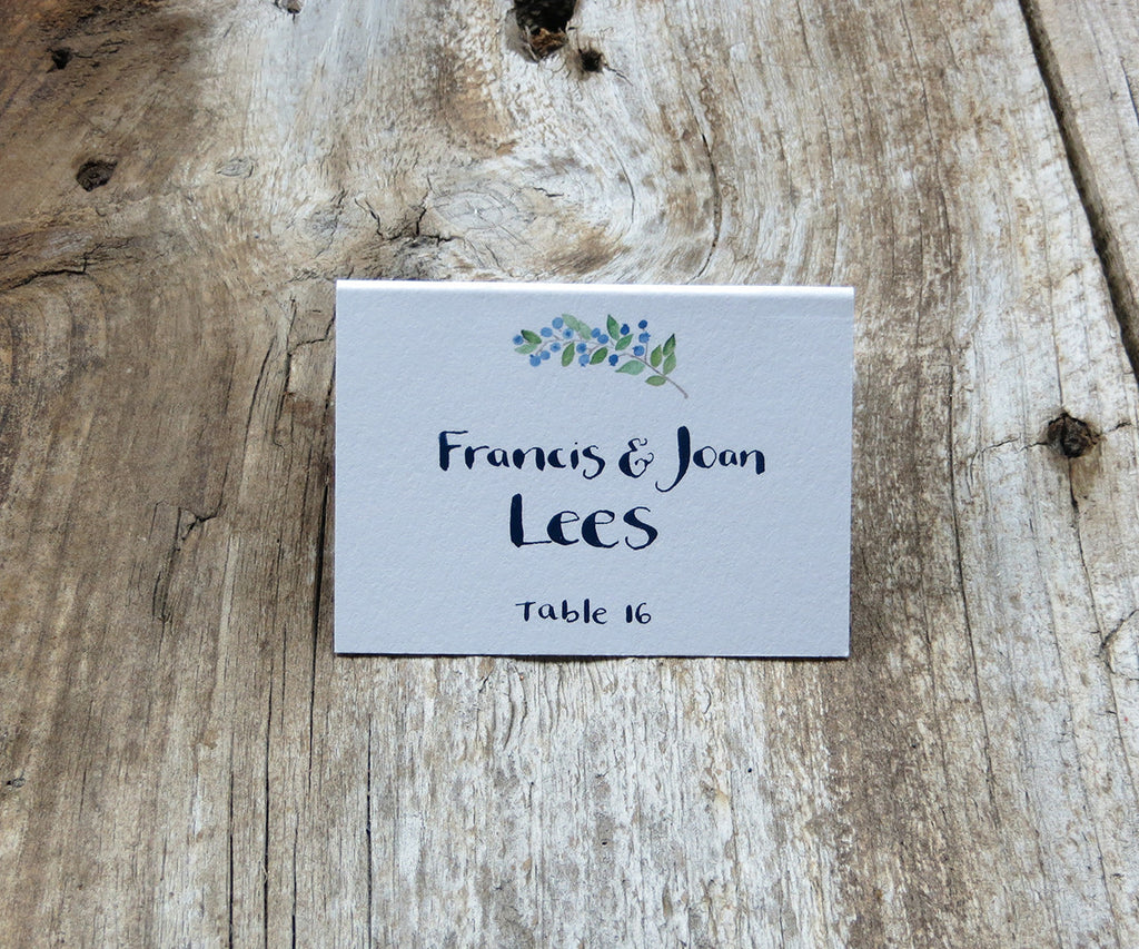 Blueberries Escort/Place Card