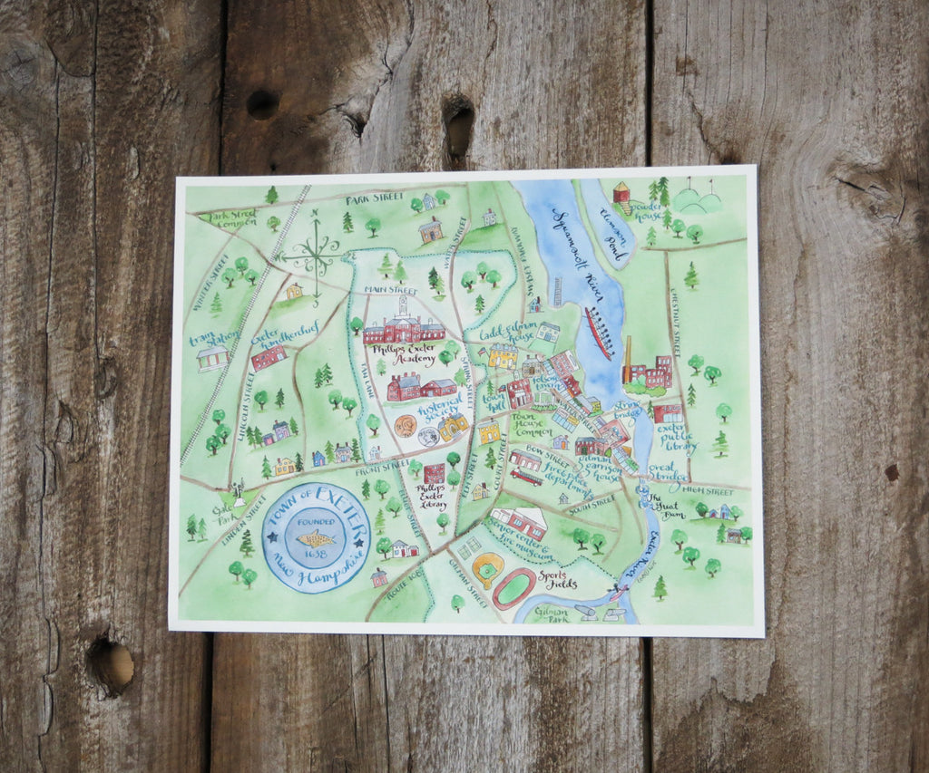 Map of Exeter, NH