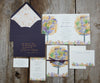 Gold and Purple Wedding Invitation
