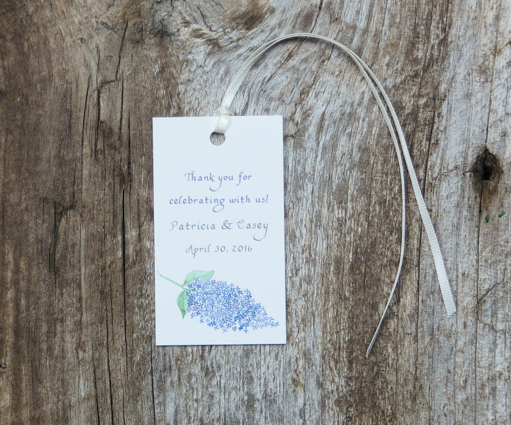 Classic Lilac Favor Tags
