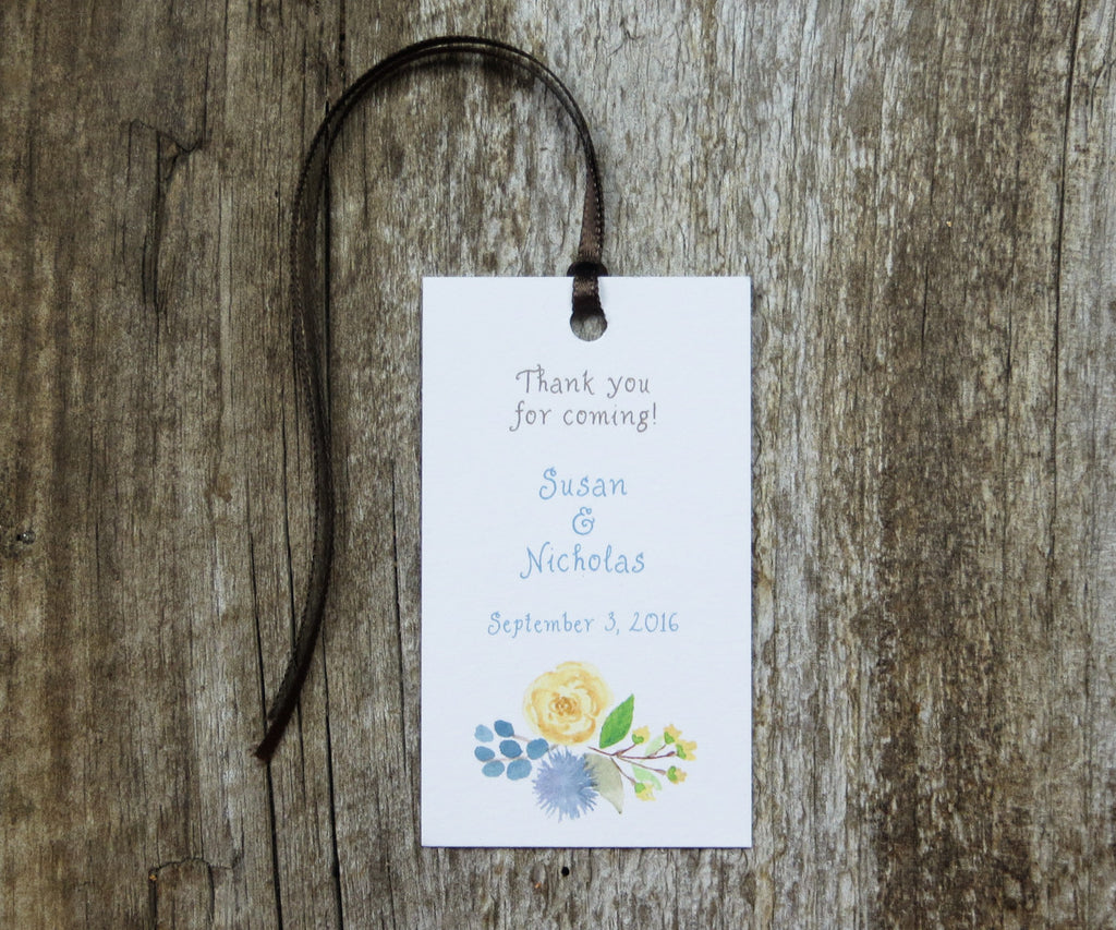 Woodland Bouquet Favor Tags