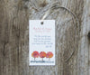 3 Foliage Favor Tags