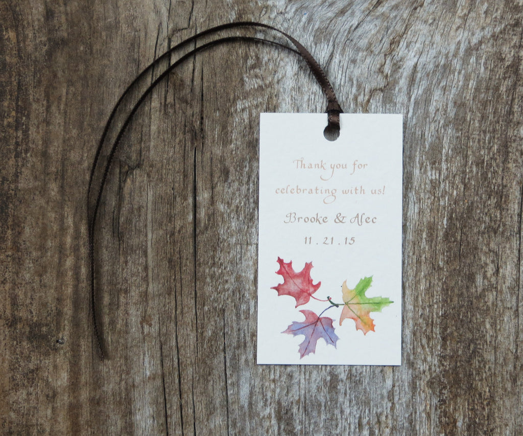 October Leaves Favor Tags