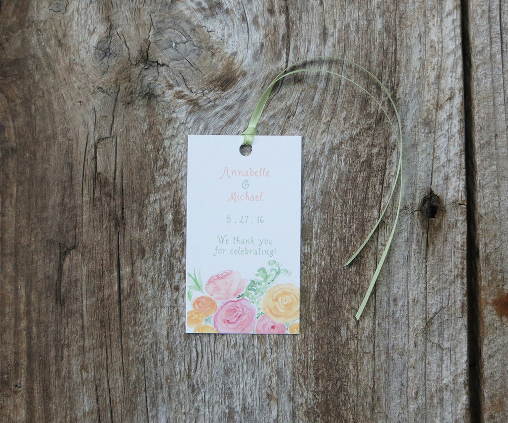 Roses with Greens Favor Tags