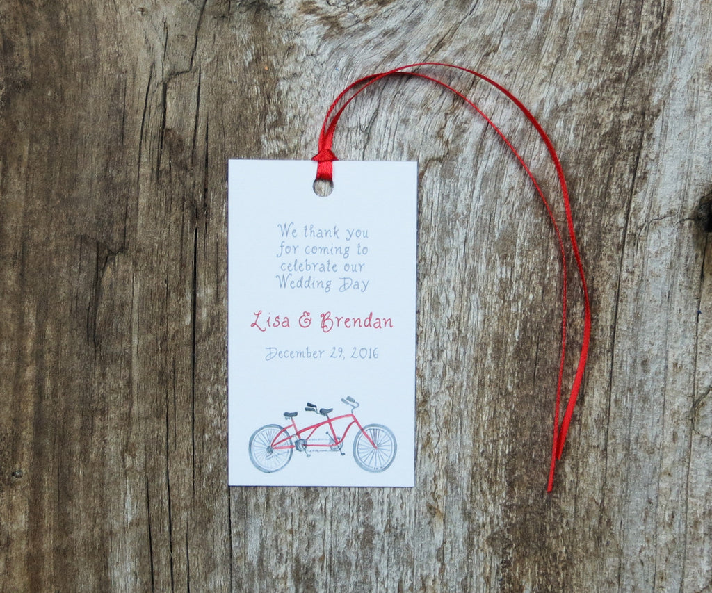 Bike For 2 Favor Tags