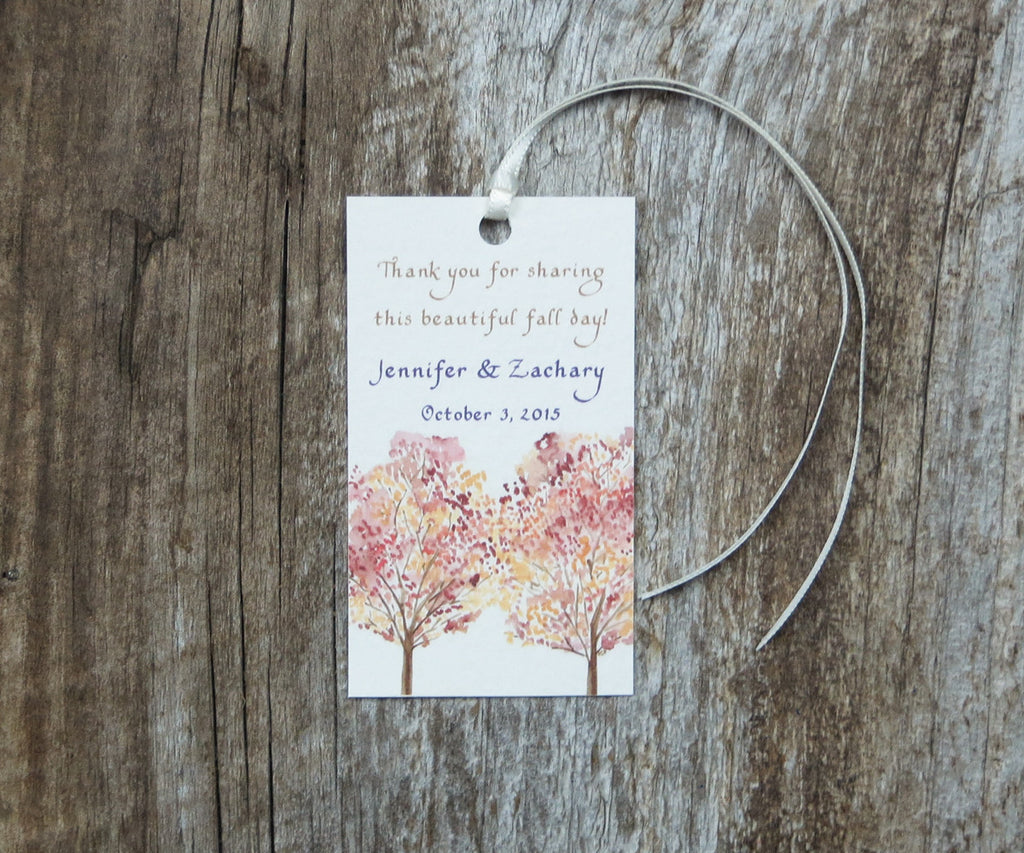 Maple Leaves Favor Tags