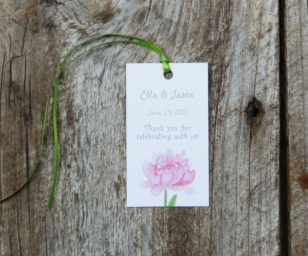 Pretty Peonies Favor Tags