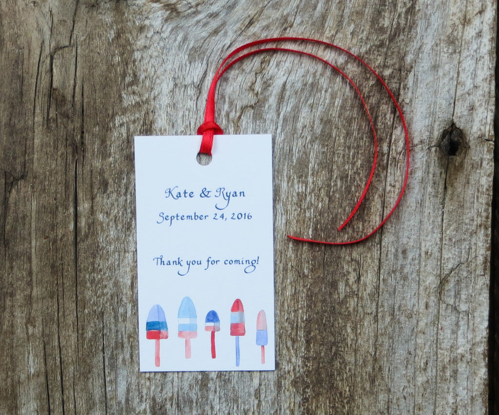 Lobster Buoy Favor Tags