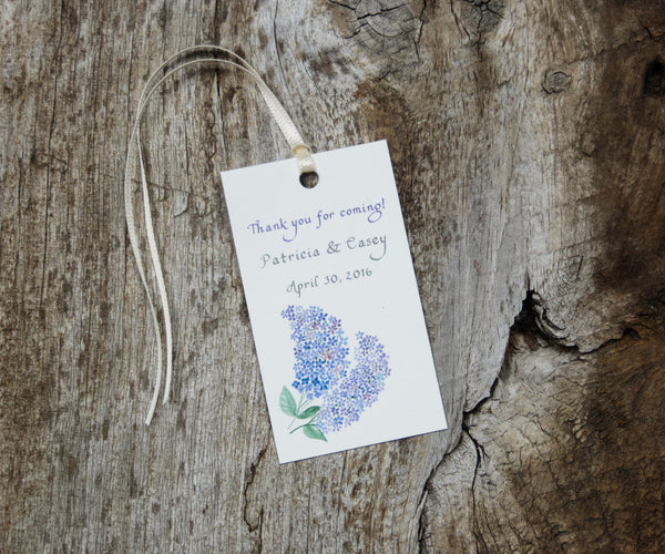 Spring Lilacs Favor Tags
