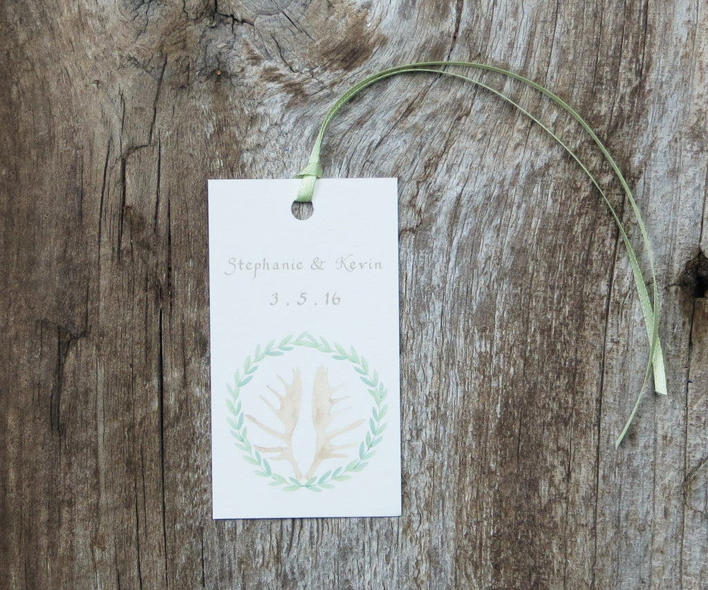 Antler Wreath Favor Tags