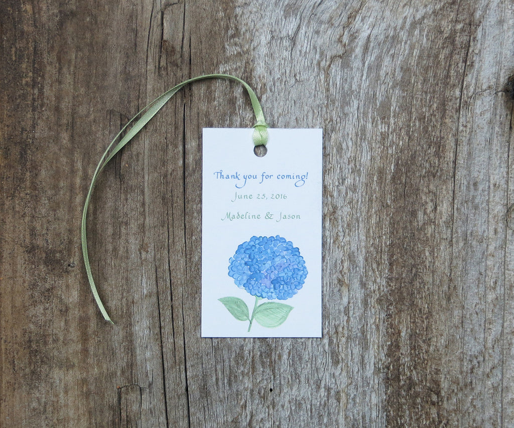 Classic Hydrangea Favor Tags