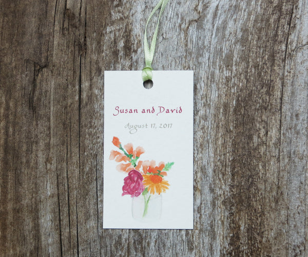 Jar of Blossoms Favor Tags
