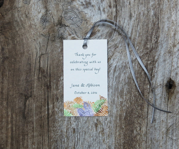 Autumn Trees with Ferns Favor Tags