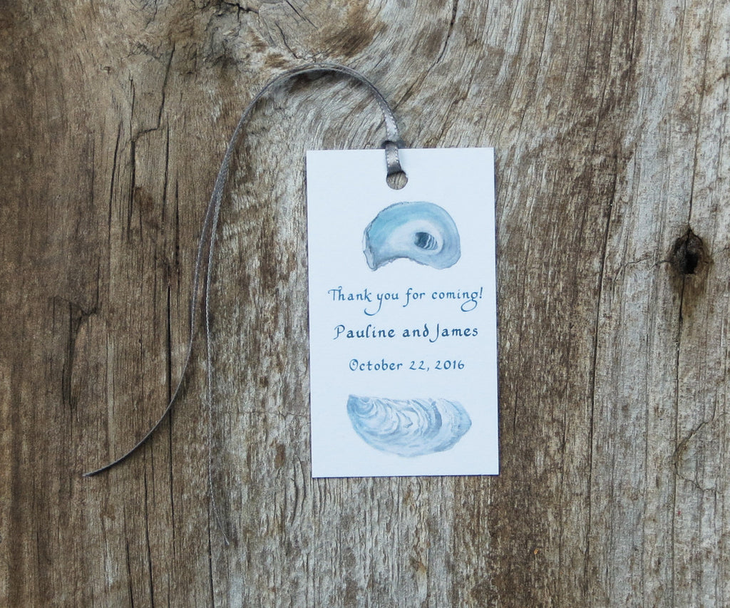 Oyster Shell Pocket Tags Blank