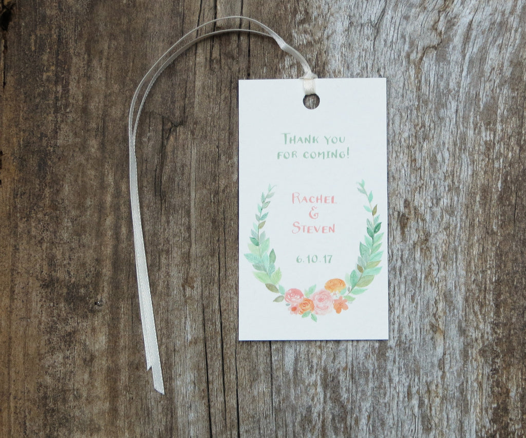 Floral Wreath Favor Tags