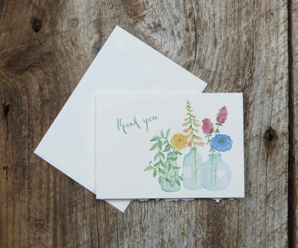 Floral vases thank you note