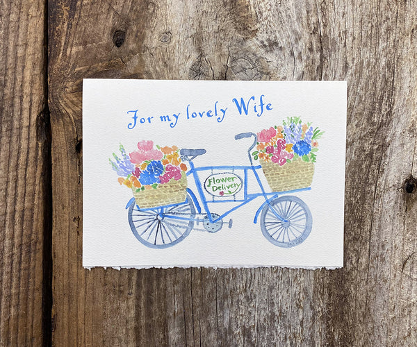 Flower Delivery wife card