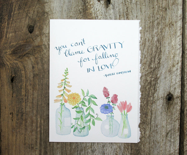 Gravity Love Quote Card