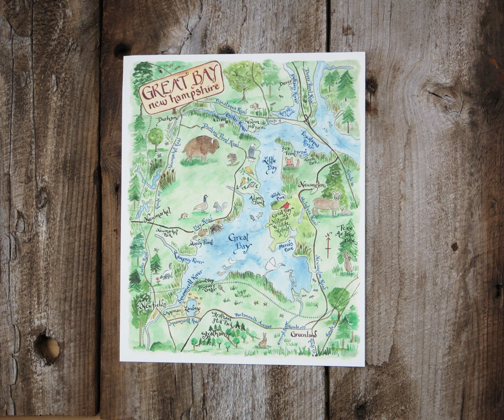 Map of Great Bay, NH
