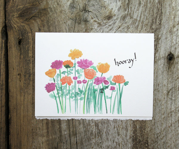 Hooray Flowers Card