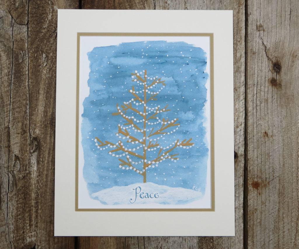 Peace Tree Christmas Print