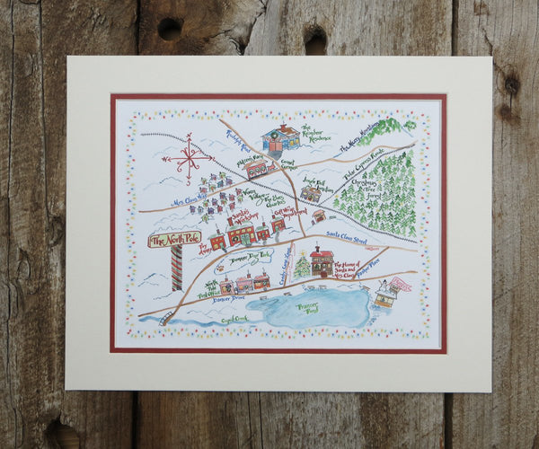 North Pole Christmas Print