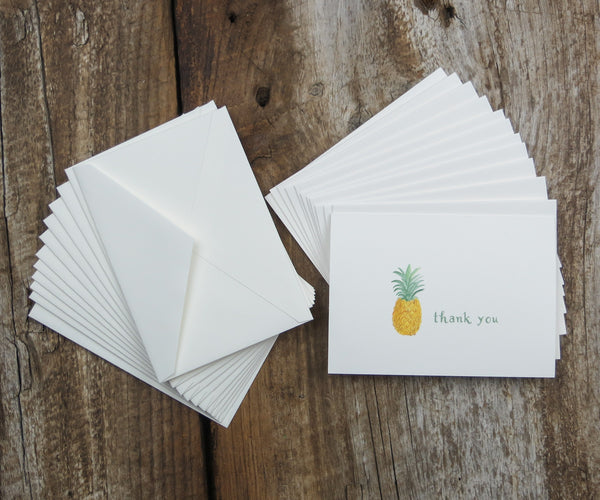 Pineapple Thank You Notes