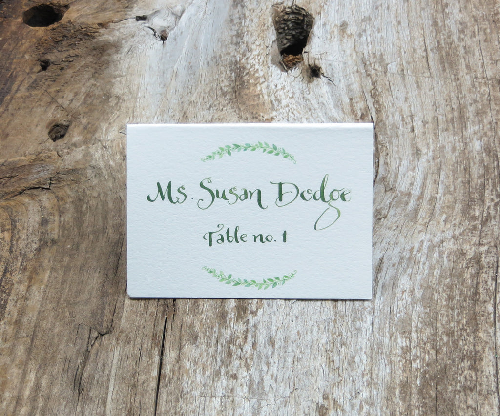 Encircled with Greens Escort/Place Card