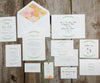 Encircled with Greens Wedding Thank You Notes