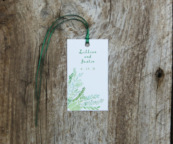 Flourishing Greens Favor Tags