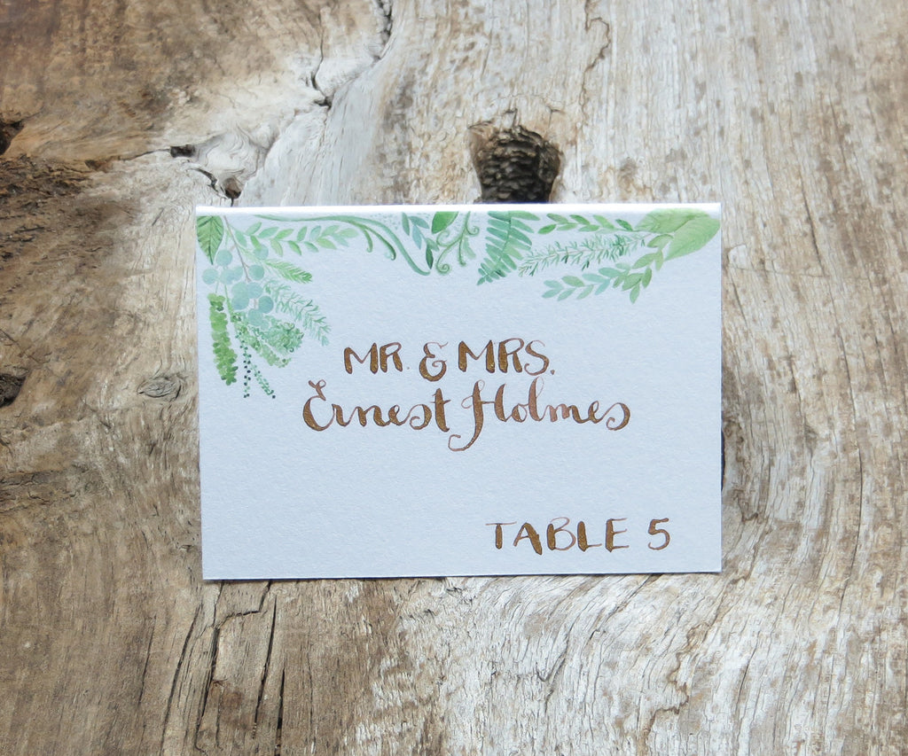 Flourishing Greens Escort/Place Card