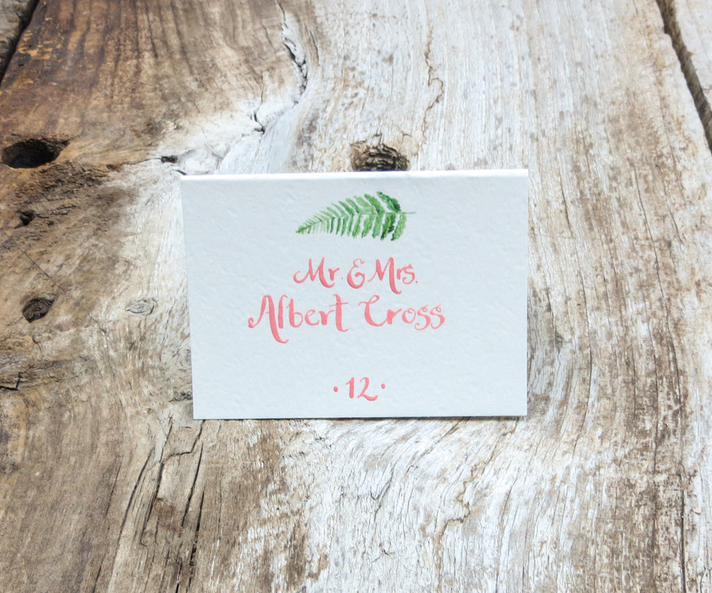 Woodland Fern Escort/Place Card