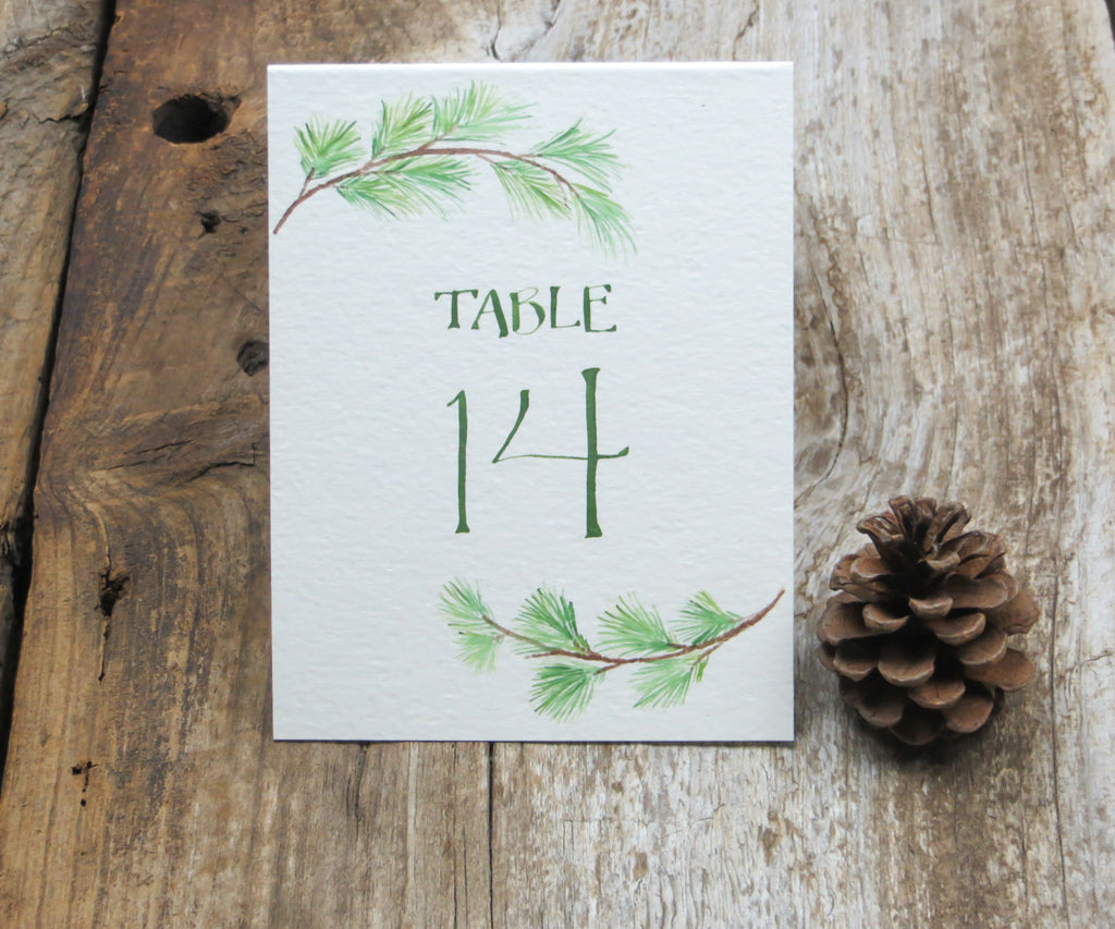 Pine Bough Table Signs