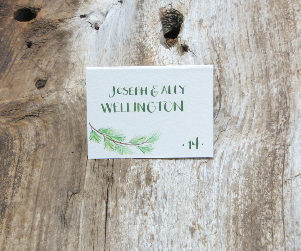 Pine Bough Escort/Place Card