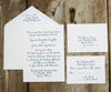 Pointed Pen Calligraphy Wedding Invitation